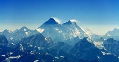 Mount Everest. Tají ledovce na Mount Everestu.